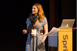 Photo of Anna Byrne presenting at Sprint 16