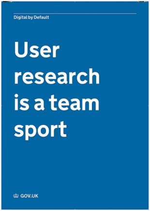 Poster stating 'User research is a team sport'