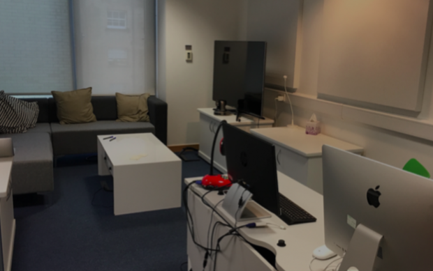Photo of GDS' user testing lab