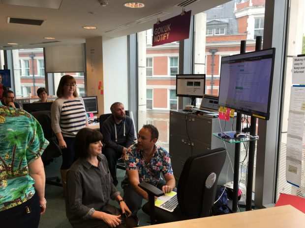 Notify team watching a dashboard on a screen as messages are sent to users