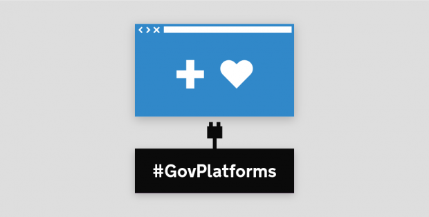 Graphic of website with two icons on - one is a cross and one is a heart
